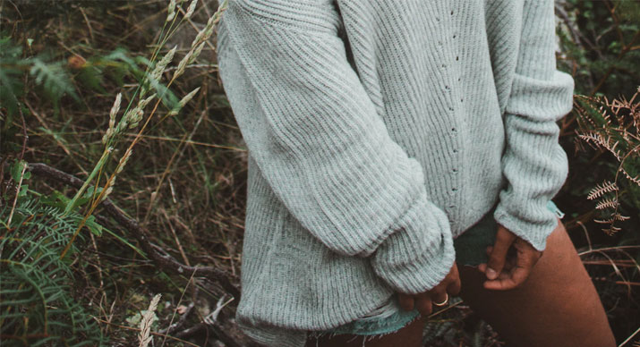 grey cashmere jumper